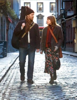 "Glen Hansard and Marketa Irglova make music in the movie ""Once"""